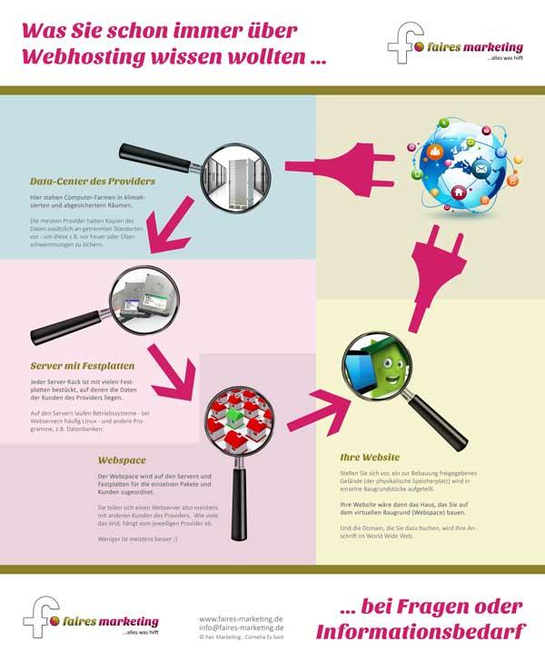 Infografik zur Erklärung des Webhosting
