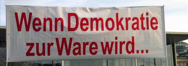 Agrardemo gegen TTIP iund CETA in Berlin: wenn Demokratie zur Ware wird