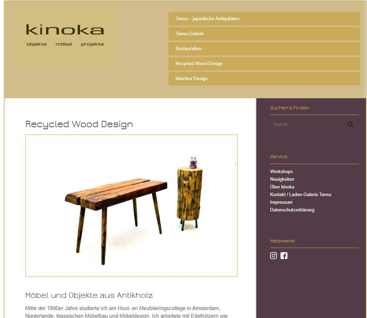 Kinoka Recycled Wood Design