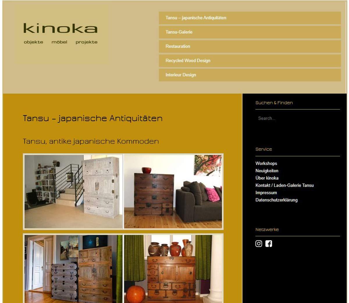 Kinoka Möbeldesign - Tansu-Seite