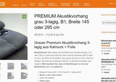 Moltondiscount Akustikvorhang Produktdetail-Seite